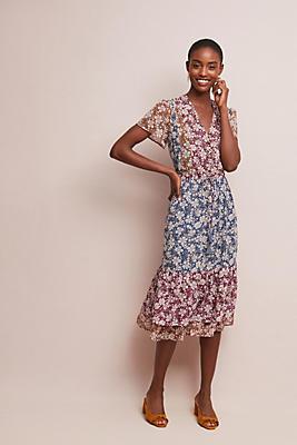 Slide View: 1: Desert Floral Midi Dress