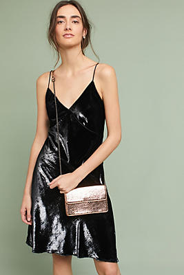 Slide View: 1: Mira Velvet Wrap Dress