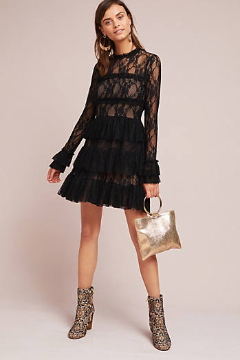 Laced & Ruffled Dress