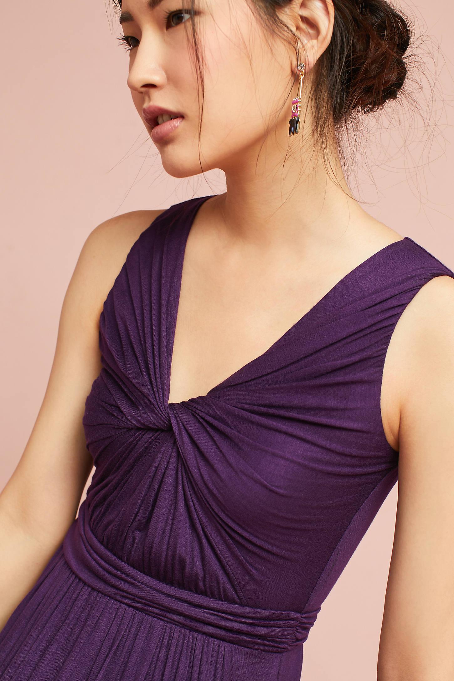 Knotted Knit Maxi Dress
