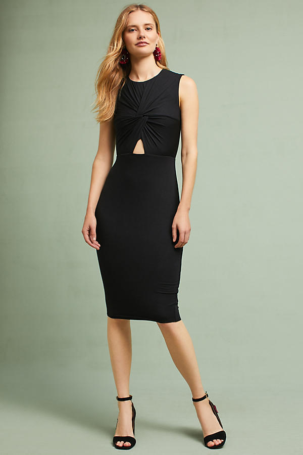 Slide View: 1: Melda Knotted Cutout Dress