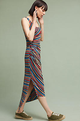 Luca Striped Maxi Dress, Red | Anthropologie