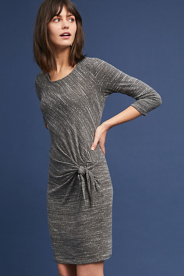 Yesmine Waist-Tie Dress - Grey, Size M