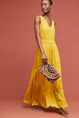 Slide View: 1: Goldenrod Maxi Dress