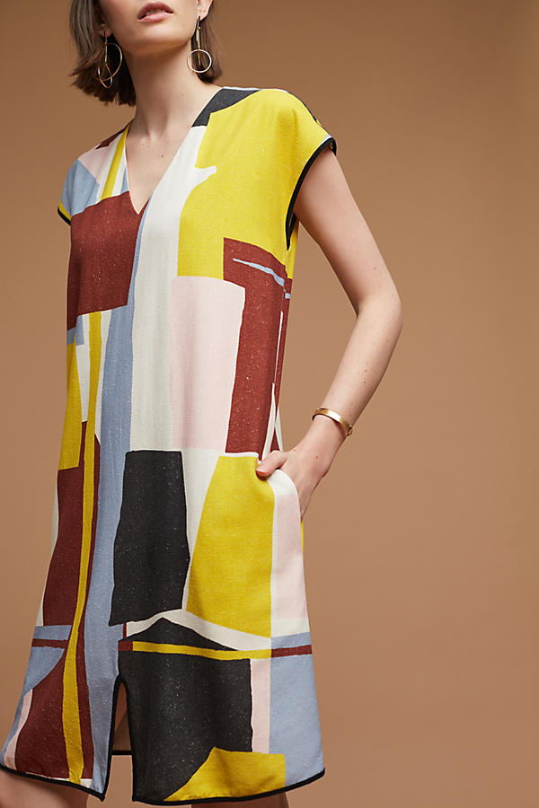 Slide View: 2: Robe tunique en soie Abstract