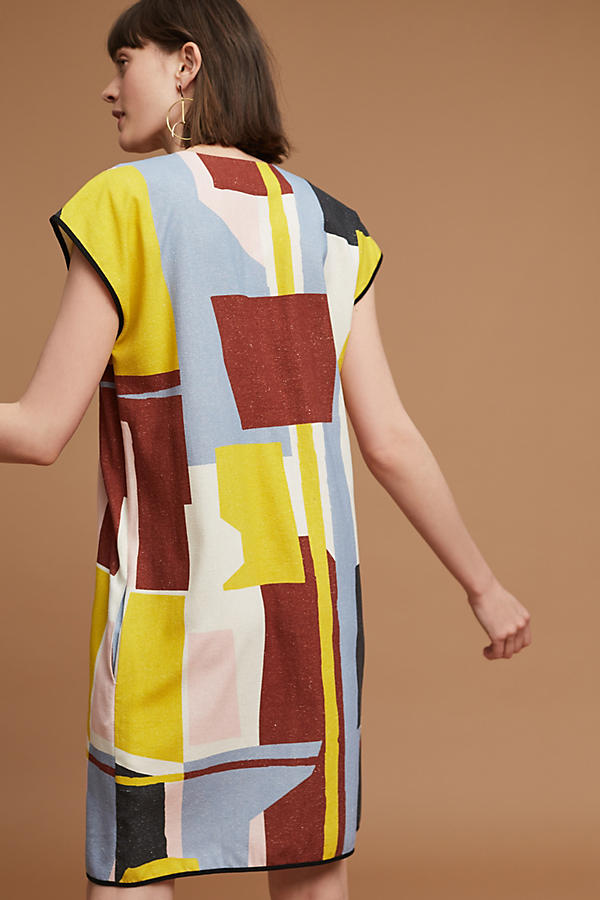 Slide View: 3: Robe tunique en soie Abstract