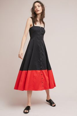 Mara Hoffman   Mara Hoffman Colorblocked Corset Dress  -    BLACK MOTIF