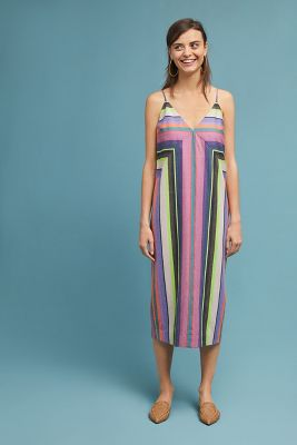 Mara Hoffman   Mara Hoffman Striped Column Dress  -    PURPLE MOTIF