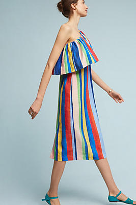 Slide View: 1: Ray Linen Midi Dress