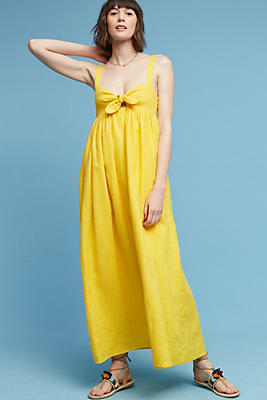 Slide View: 1: Teresina Linen Maxi Dress
