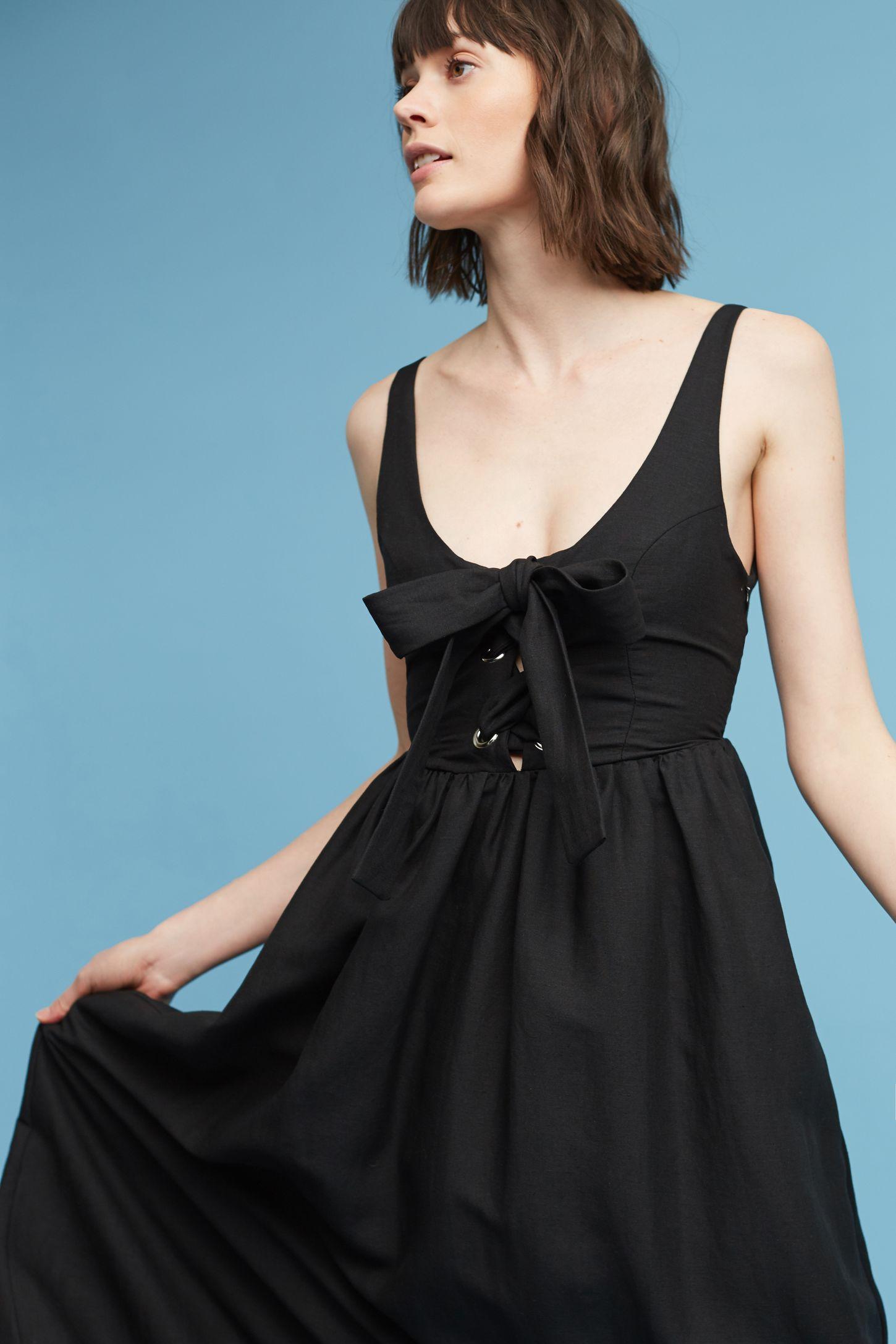 Myriam Linen Midi Dress | Anthropologie