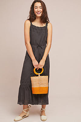Slide View: 1: Amelia Eyelet Maxi Dress