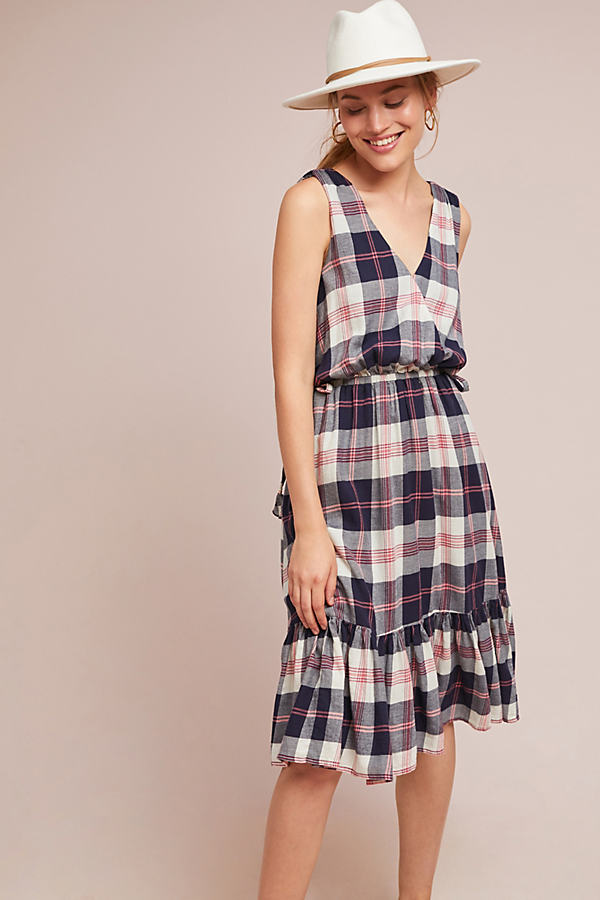 Dickens Plaid Dress - Assorted, Size M