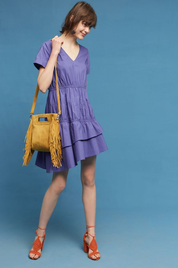 Blue Tassel Amparo Poplin Dress