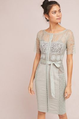 Byron Lars   Carissima Sheath Dress  -    GREY MOTIF