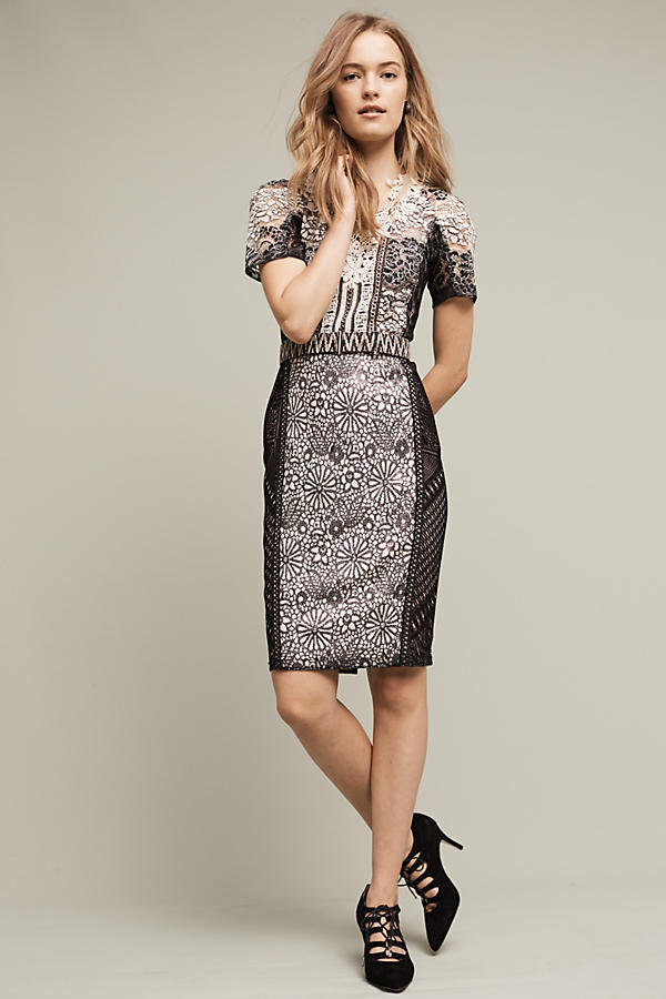 Lace Melange Pencil Dress