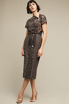 Pinot embellished dress by Anthropologie