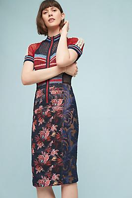 Slide View: 3: Jewel Jacquard Dress