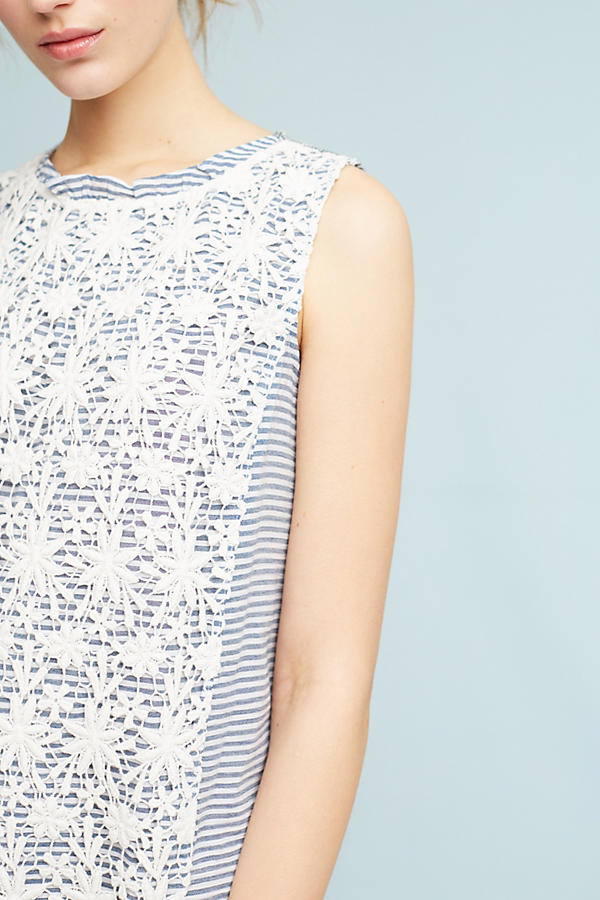 Slide View: 2: Petite Lace-Mix Dress
