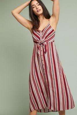 Anama   Algonquin Dress  -    RED MOTIF