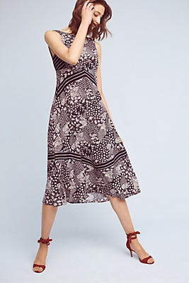 Slide View: 1: Patchwork Midi Dress