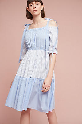 Slide View: 3: Quill Off-The-Shoulder Dress