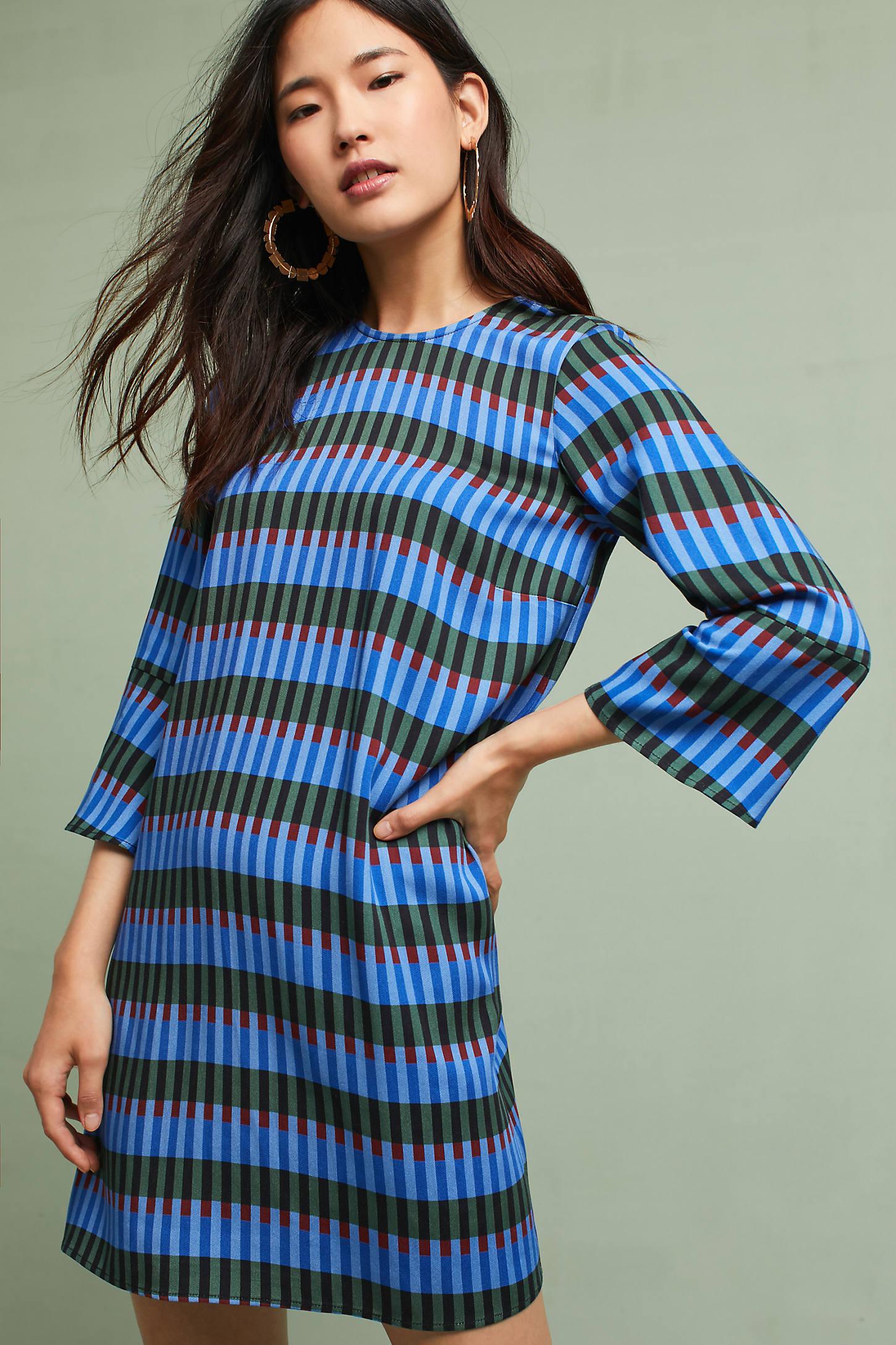 Dusen Dusen Flared-Sleeve Tunic Dress
