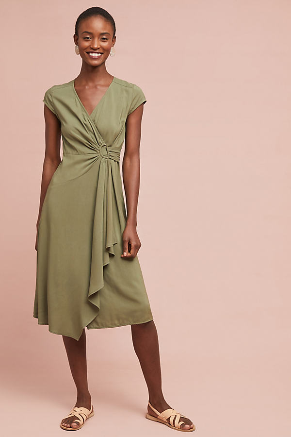 Rayna Wrap Dress - Green