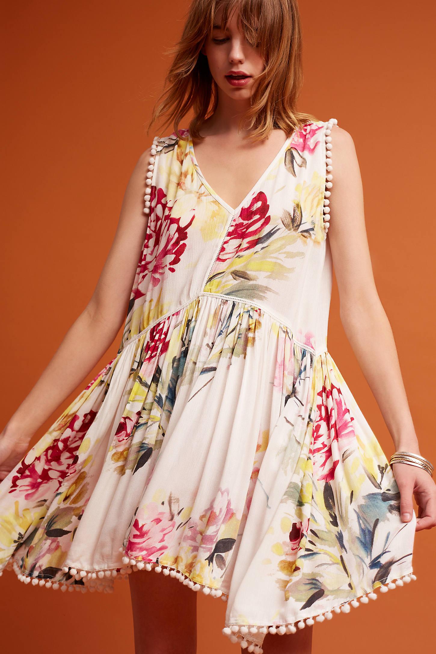 Petite Lattice Floral Dress