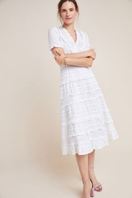 ca2f456891c99 Eugenie Ruffled Lace Midi Dress $355
