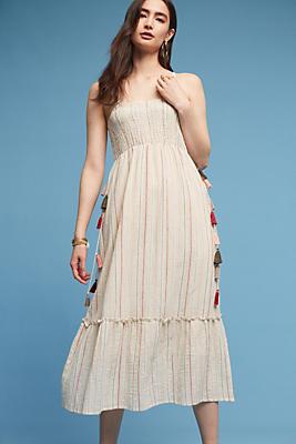 Slide View: 1: Anwen Smocked Midi Dress
