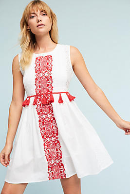 Slide View: 1: Margaret Embroidered Dress