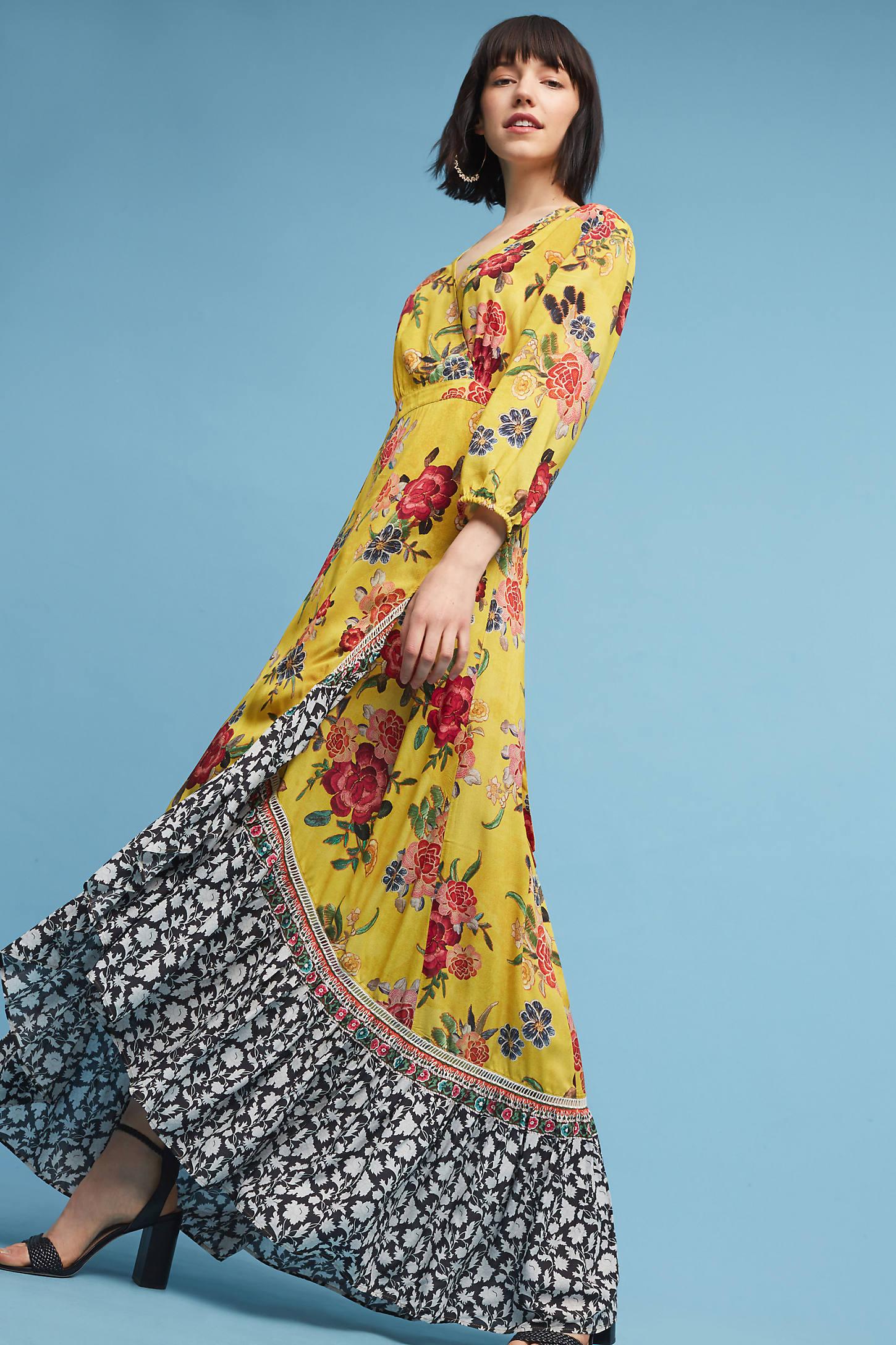 Sunlit Floral Maxi Dress