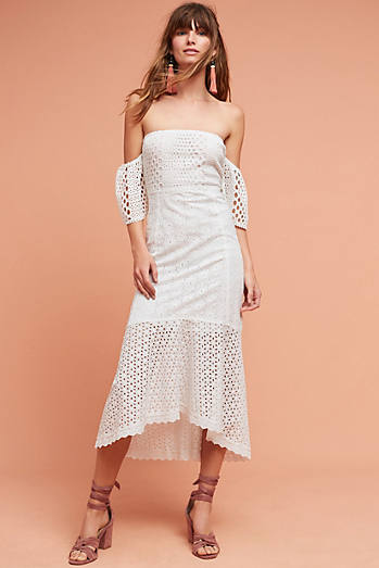 Oahu Off-The-Shoulder Eyelet Dress