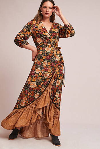 Farm Rio Madrid Wrap Maxi Dress