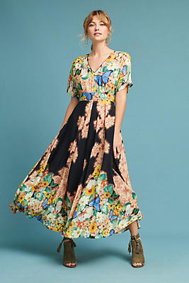 Slide View: 1: Farm Rio Butterfly Maxi Dress