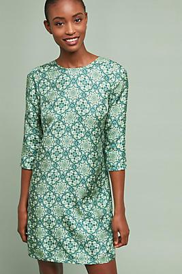 Slide View: 1: Ines Silk Tunic Dress