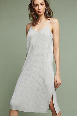 Slide View: 1: Textured Slip Dress