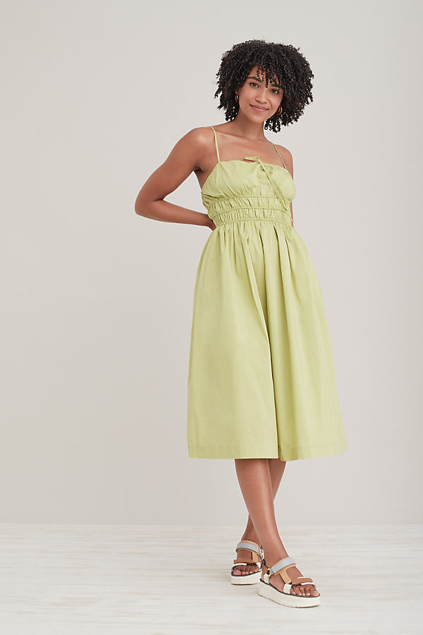 Sunday in Brooklyn Smocked Midi Dress