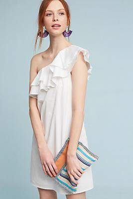 Slide View: 1: Ruffled Poplin Mini Dress