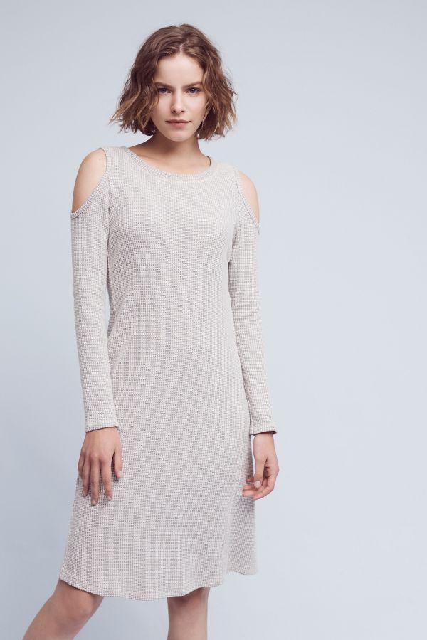 Sol Angeles Apres Open-Shoulder Dress