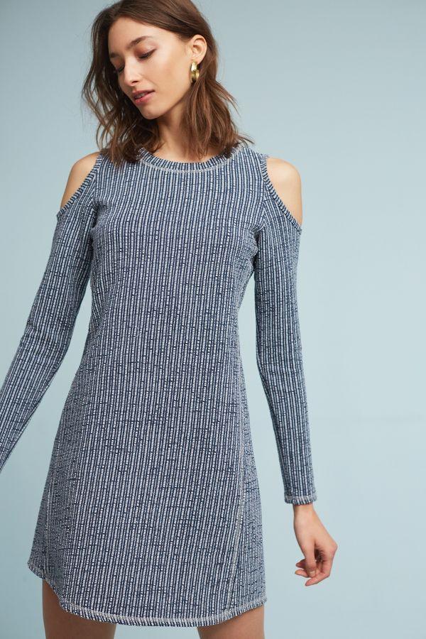 Sol Angeles Textured Knit Open-Shoulder Dress