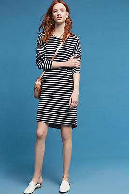 Slide View: 2: Striped Terry Cocoon Dress