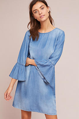 Slide View: 2: Cloth & Stone Flutter-Sleeve Tunic Dress