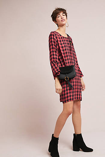 Cloth & Stone Flutter-Sleeve Tunic Dress
