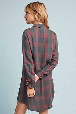Slide View: 2: Cloth & Stone Cozy Plaid Tunic Dress