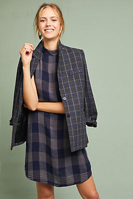 Slide View: 1: Cloth & Stone Plaid Swing Dress