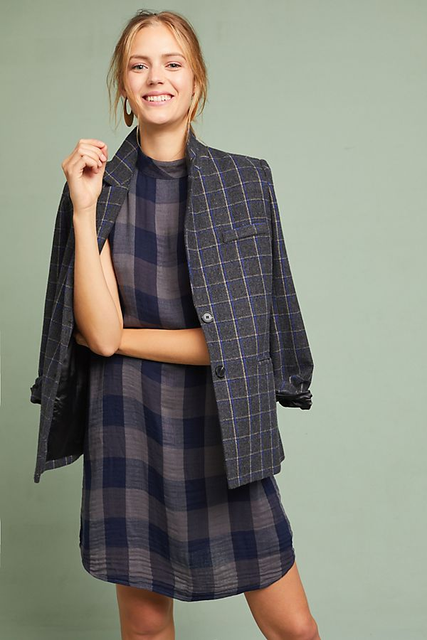 Cloth Stone Plaid Swing Dress