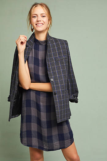 Cloth & Stone Plaid Swing Dress