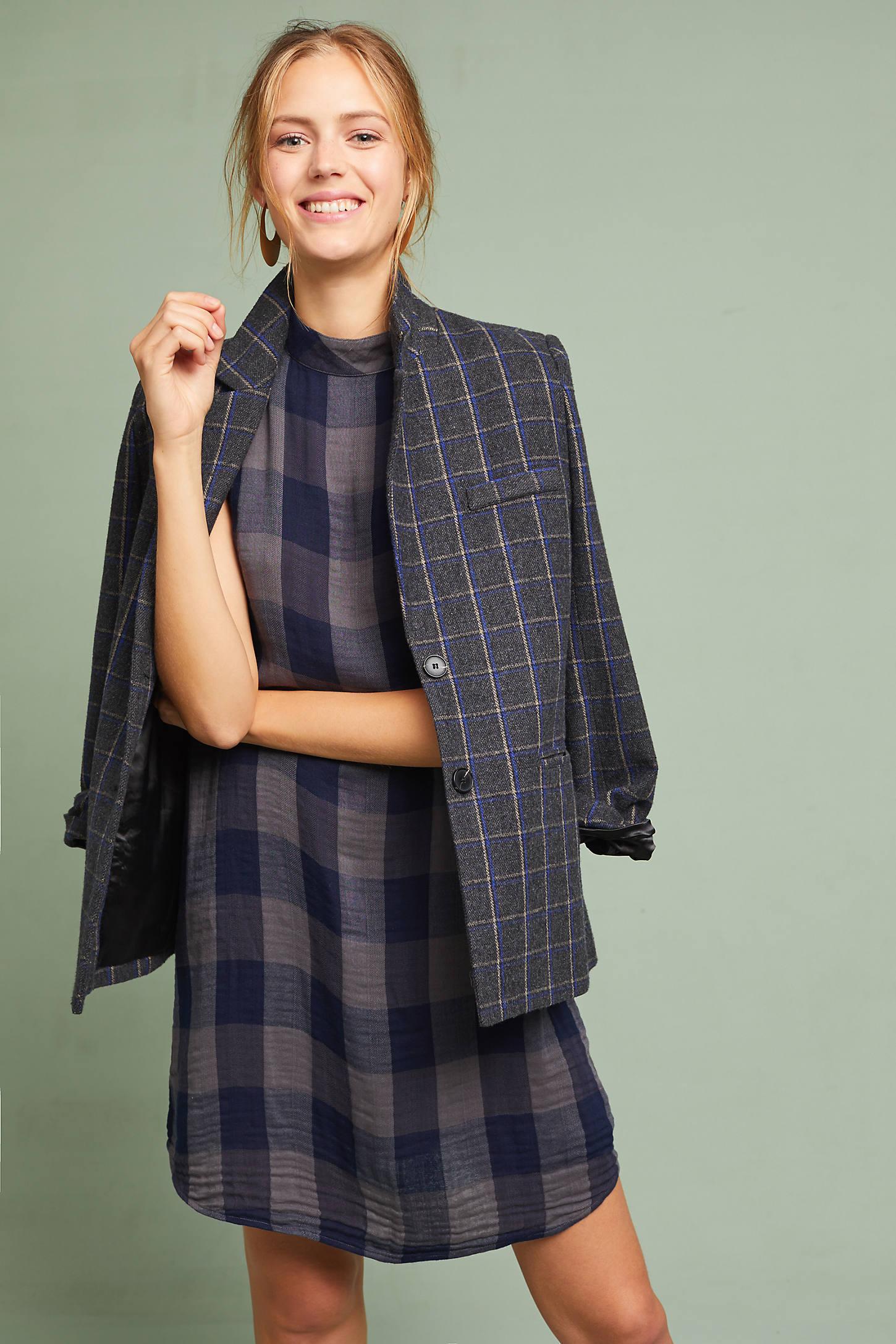 Cloth & Stone Plaid Swing Dress